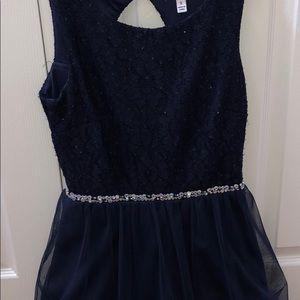 Speechless navy mini dress